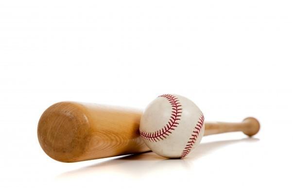 Baseball and wooden bat