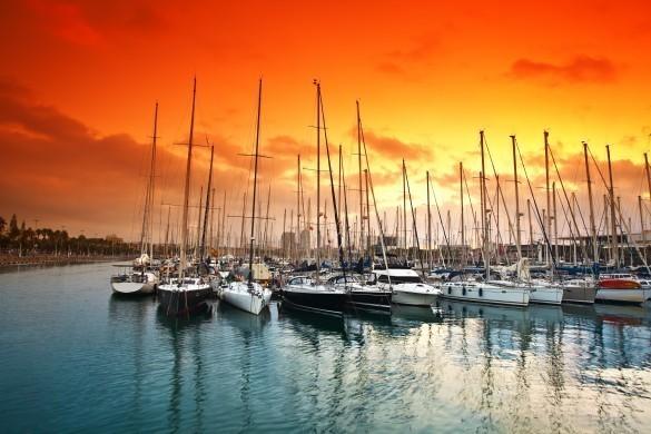 Boats at Barceloneta