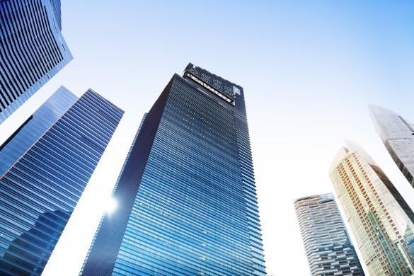 Contemporary Architecture Office Building Cityscape Concept