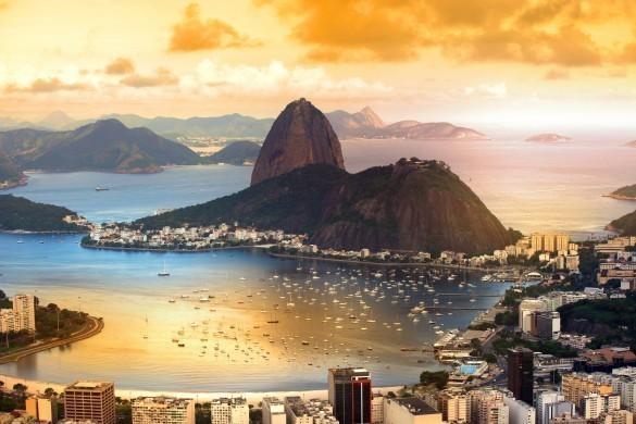 Rio De Janeiro at dusk