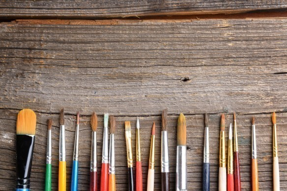 Artistic Paint brushes