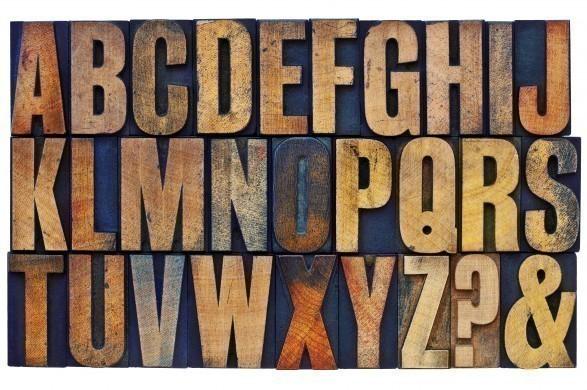 Wooden alphabet