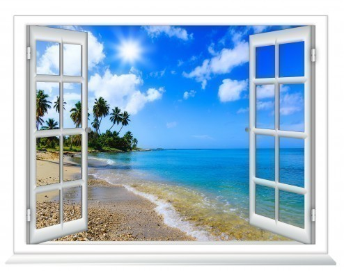 Ocean view window