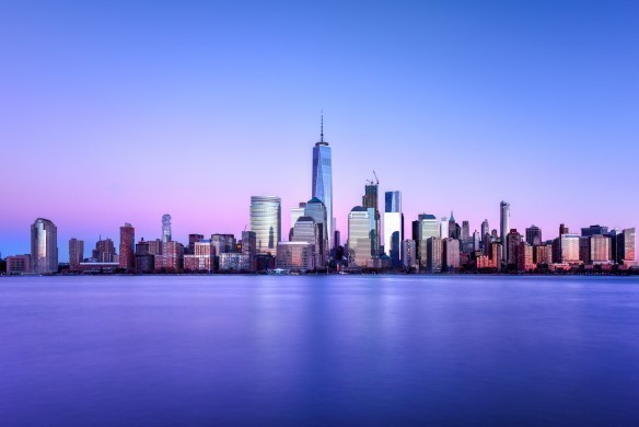 New York blue skyline