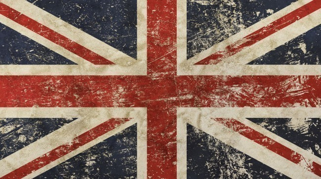 Vintage Faded British Flag