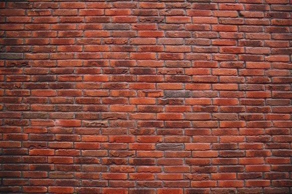 Old red brick wall.