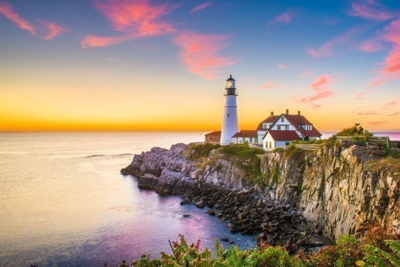 Lighthouse at Cape Elizabeth, Maine
