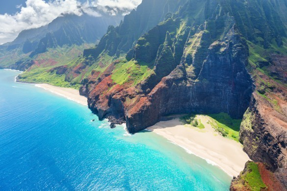 Na Pali Coast in Hawaii
