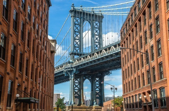 New York and Manhattan bridge