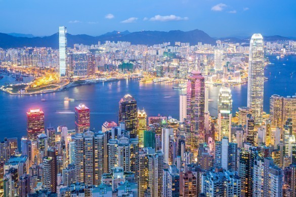 Hong Kong Skyline at Dusk