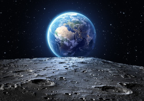 The earth seen from the moon