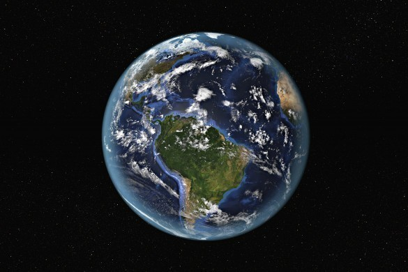 Detailed view of Earth from the space