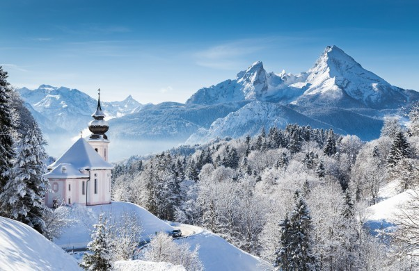 Winter wonderland in the German Alps