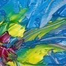 Abstract blue art