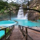 Mexican blue waterfall