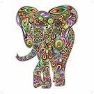 Elephant Psychedelic Pop Art