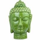 Buddha head green