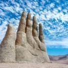 Hand Sculpture, the symbol of Atacama Desert