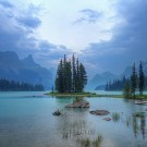 Spirit Island in the Canadian Rockies