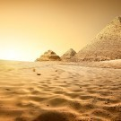 Pyramids in sand