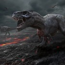Extinction of the dinosaurs.