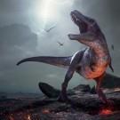 Rendering of Tyrannosaurus Rex near extinction