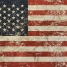 Vintage faded American US flag