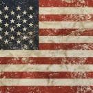 Vintage faded American US flag
