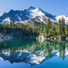 Calm waters of lake