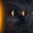 The amazing view of Solar system