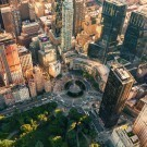 Aerial view of Columbus Circle in New York