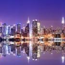 Manhattan Skyline with Reflections