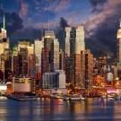 Manhattan Midtown skyline at twilight