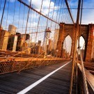 Sunshine over Brooklyn Bridge