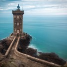 Lighthouse at Atlantic coast in France