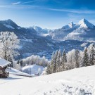 Winter wonderland in the Alps