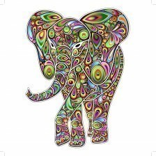 Elephant Psychedelic Pop Art