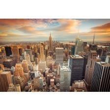 Sunset view of New York City
