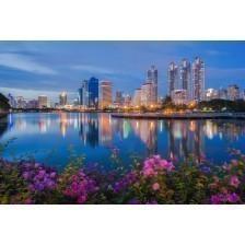 Bangkok cityscape with sunset