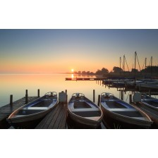 Tranquil, marina spring dawn