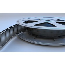 Retro reel film movie.