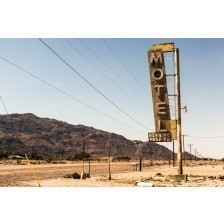 Abandoned Motel on the Route 66, Vintage sign