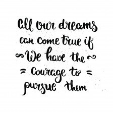 """Wall """"dreams"""" quote"""