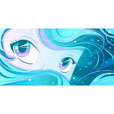 Aqua - teal Manga Eyes
