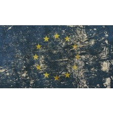 Vintage faded European Union