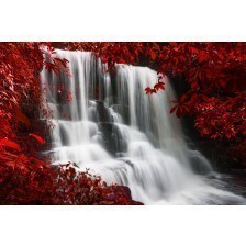 Red waterfall