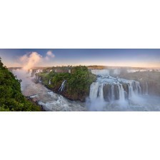 Panoramic of Iguacu Falls