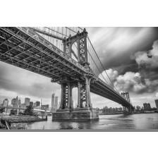 The Manhattan Bridge black and white