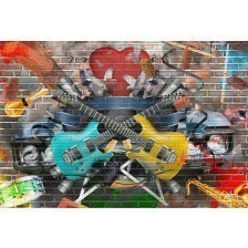 Collage of music in graffiti