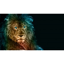 Digital art of a lion